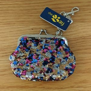 NWT Nine West Sequin coin pouch